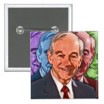 Elect Ron Paul For President 15 Cm Square Badge