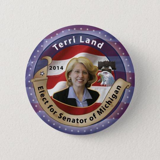Elect Terri Land for Senator of Michigan - 2014 6 Cm Round Badge