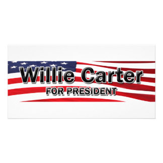 Elect Willie Carter Customized Photo Card