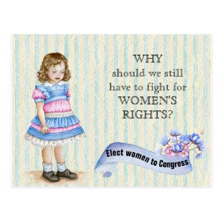 Elect Women to Congress Vintage Girl Postcard