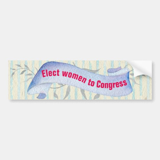 Elect Women to Congress Vintage Style Bumper Sticker