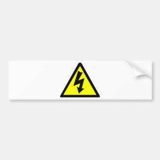 Electicity Warning Symbol Bumper Sticker