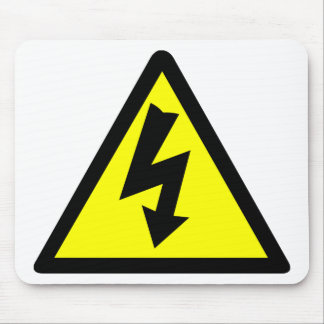 Electicity Warning Symbol Mouse Pad