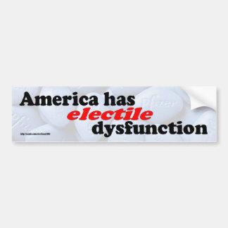 Electile Dysfunction Bumper Sticker