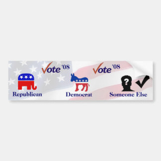 Election 2008 car bumper sticker