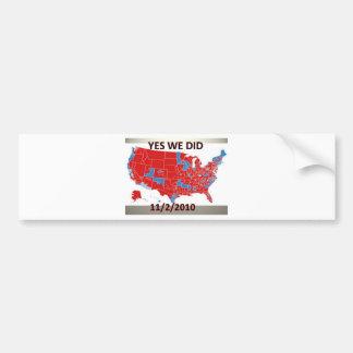 Election 2010 bumper sticker