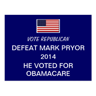 Election 2014 Defeat Mark Pryor Postcard