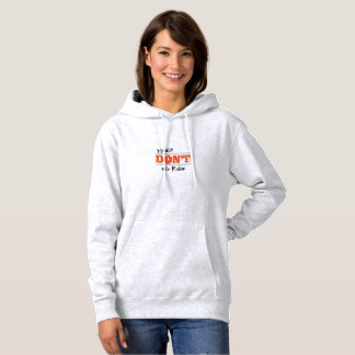 Election 2016 Don't Vote Rubio customizable Text Hoodie