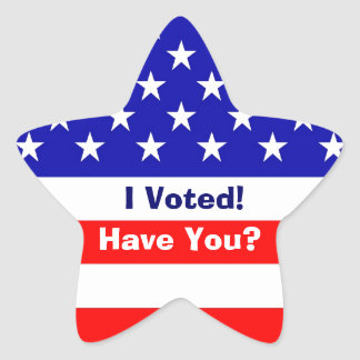 Election American Flag Star Stickers