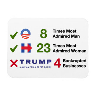 """Election By The Numbers - 3""""x4"""" Magnet"""