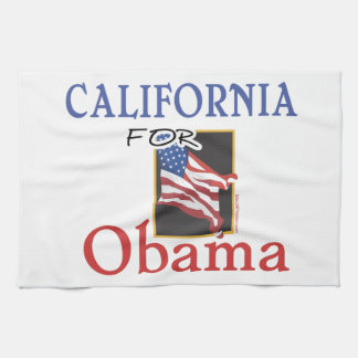 Election California for Obama Tea Towel