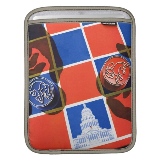 Election Checkerboard Sleeves For iPads