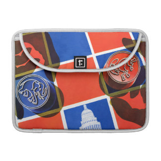Election Checkerboard Sleeve For MacBooks
