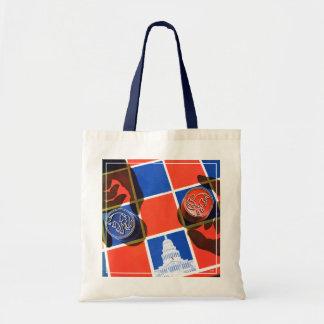 Election Checkerboard Tote Bag