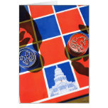 Election Chequerboard Greeting Card