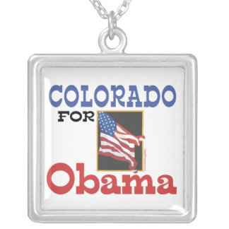 Election Colorado for Obama Personalized Necklace