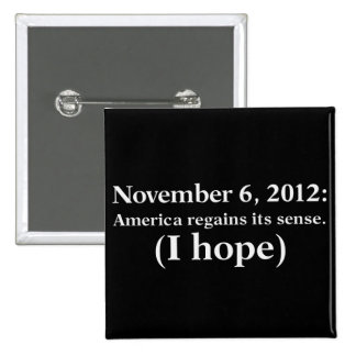 Election Day 2012 I Hope America Wakes Up 15 Cm Square Badge