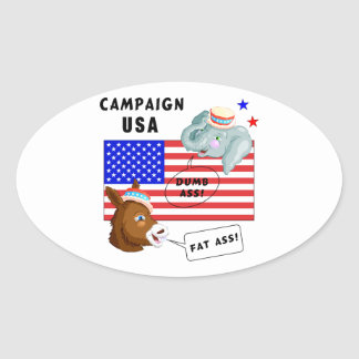 Election Day Campaign USA Oval Sticker