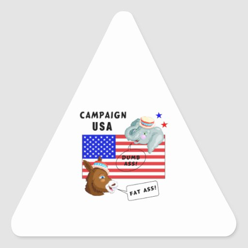 Election Day Campaign USA Triangle Stickers