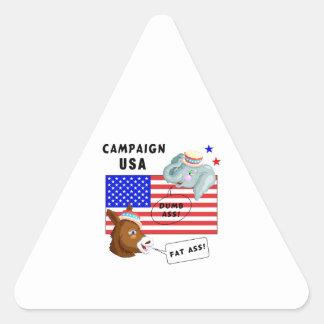 Election Day Campaign USA Triangle Sticker