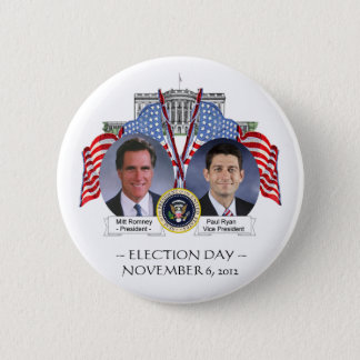 ELECTION DAY Mitt Romney Paul Ryan BUTTON