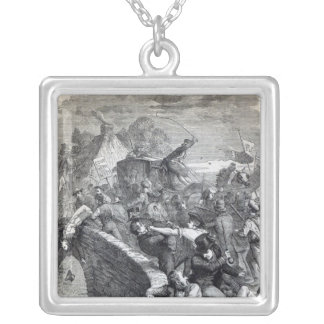 Election Riot at Hawick Silver Plated Necklace