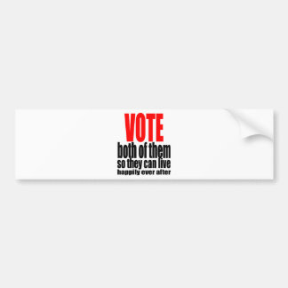 election vote hillary trump marriage president 201 bumper sticker