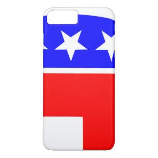 election vote republican elephant USA flag iPhone 7 Plus Case