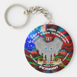 Elections vote Republican This Design Fits All Basic Round Button Key Ring