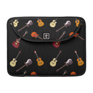 Electric & Acoustic Guitar Collage MacBook Pro Sleeves