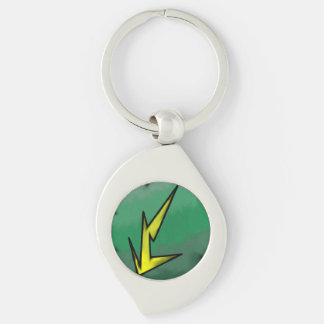 Electric Affinity Swirl Keychain Silver-Colored Swirl Key Ring