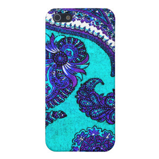 Electric Aqua Indian Paisley iPhone 5/5S Cover