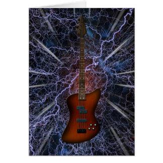 Electric Bass Guitar Card
