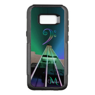 Electric Bass Guitar Colorful Monogram OtterBox Commuter Samsung Galaxy S8+ Case