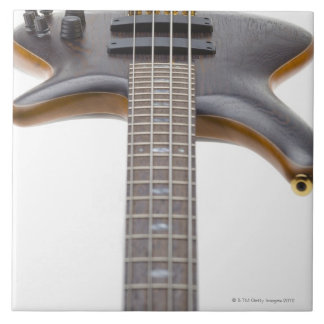 Electric Bass Guitar Large Square Tile