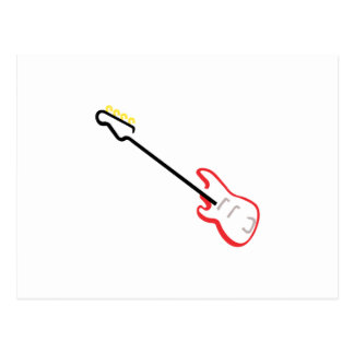 Electric Bass Guitar Postcard