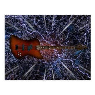 Electric Bass Guitar Postcards