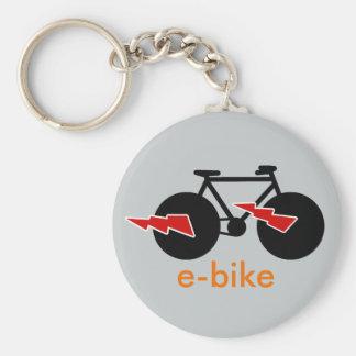 electric-bike  e-bike basic round button key ring