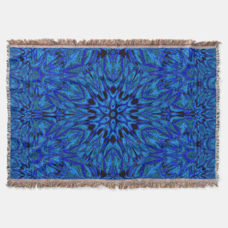Electric Blue 1 Throw Blanket