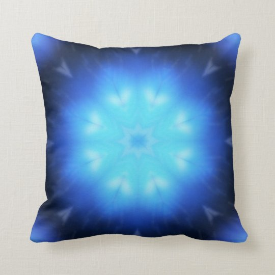 Electric Blue Abstract Cushion