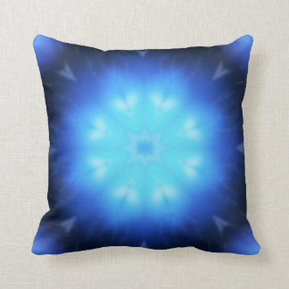 Electric Blue Abstract Throw Pillow
