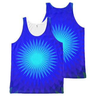 Electric blue. All-Over print tank top