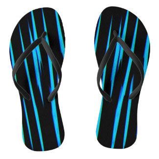 ELECTRIC BLUE (an abstract art design) ~ Flip Flops