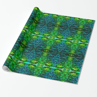 Electric Blue and Green Dazzling Wrapping Paper