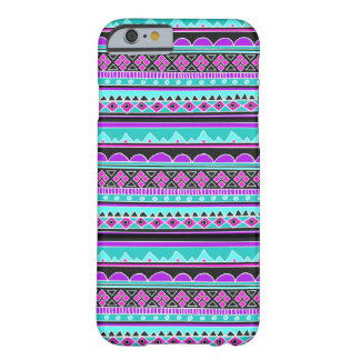 Electric Blue and purple geometric pattern Barely There iPhone 6 Case