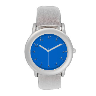 Electric Blue and Silver Wrist Watches