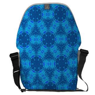 Electric Blue Anther Filament Messenger Bag