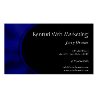 Electric Blue Curve Business Card