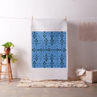 Electric Blue Geometric Mandala Pattern Fabric
