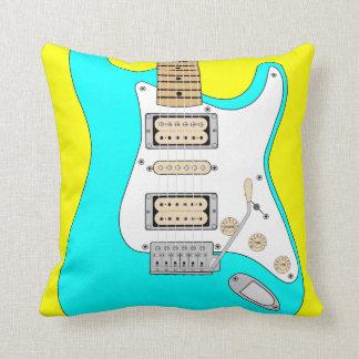 Electric Blue Guitar Cushion